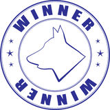Sketch of stamp for certificate of canine club. Vector sketch of the stamp for the certificate of canine club Stock Photos
