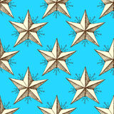 Sketch star in vintage style Stock Photos