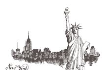 Sketch of the statue of liberty Stock Photo