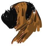 Sketch of a stilyzed bulldog isolated Royalty Free Stock Photos