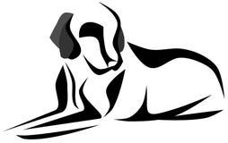 Sketch of a stilyzed dog  Royalty Free Stock Photos