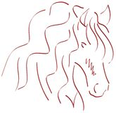 Sketch of a stilyzed Horse Stock Images