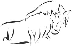 Sketch of a stilyzed Horse Royalty Free Stock Images