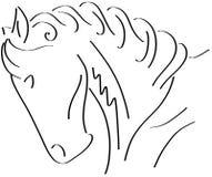 Sketch of a stilyzed Horse Stock Image