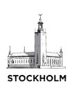 The sketch of Stockholm city hall Stock Image