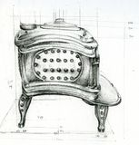 Sketch of Stove Royalty Free Stock Image