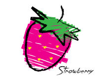 Sketch of a strawberry Stock Photography