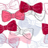 Sketch style bow ties seamless pattern. Stock Photos