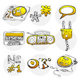 Sketch style icon set 1 Royalty Free Stock Photo
