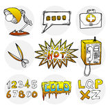 Sketch style icon set 2 Royalty Free Stock Photography
