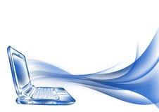 Sketch style. laptop Stock Photo