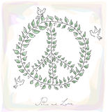 Sketch style peace dove symbol texture background EPS10 file. Royalty Free Stock Image