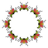 Sketch style round ornament Stock Images
