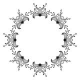 Sketch style round ornament Royalty Free Stock Photography