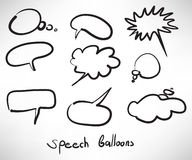 Sketch style speech bubbles Stock Photos