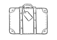 Sketch of the suitcase royalty free illustration