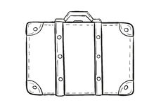 Sketch of the suitcase Stock Photography