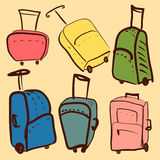 Sketch of suitcases  illustration Royalty Free Stock Photos