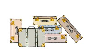 Sketch of the suitcases Royalty Free Stock Photography