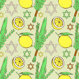 Sketch Sukkot pattern Royalty Free Stock Photography