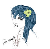 Sketch. Summer Style. Royalty Free Stock Images