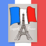 Sketch support France poster Stock Photos