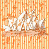 Sketch Sydney opera, vector  background eps 10 Royalty Free Stock Photography