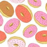 Sketch tasty donut in vintage style Stock Photo