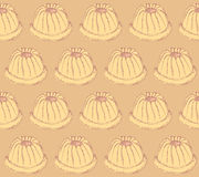 Sketch tasty muffin in vintage style Royalty Free Stock Photos