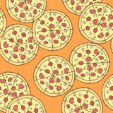 Sketch tasty pizza in vintage style Royalty Free Stock Photos