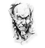 Sketch of tatto art, devil Stock Photography