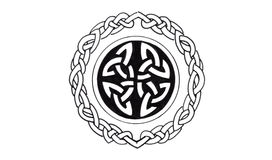 Sketch of tattoo art, celtic design Stock Images