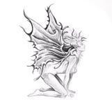 Sketch of tattoo art, Jesus Christ Stock Photo