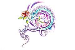 Sketch of tattoo art, Jesus Christ Royalty Free Stock Photo
