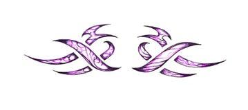 Sketch of tattoo art, tribal decorative design Stock Image