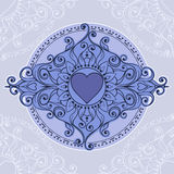 Sketch of tattoo henna hearts Royalty Free Stock Images