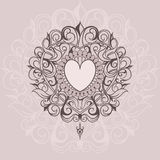 Sketch of tattoo henna hearts Stock Photography