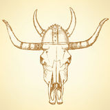 Sketch texas longhorn steer Royalty Free Stock Photos