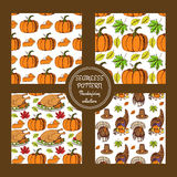 Sketch Thanksgiving patterns Royalty Free Stock Photos
