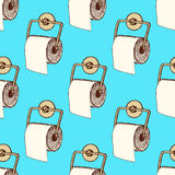 Sketch toilet paper in vintage style Royalty Free Stock Photos