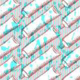 Sketch tooth paste, vector seamless pattern stock illustration