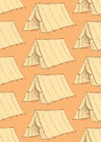 Sketch touristic tent in vintage style Stock Images