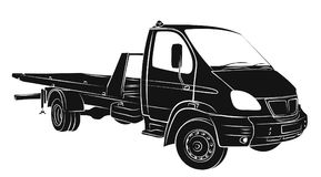 Sketch tow truck. Royalty Free Stock Photography