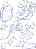 Sketch of Travel Object & Symbol Stock Images