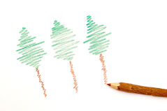Sketch of tree Royalty Free Stock Photography