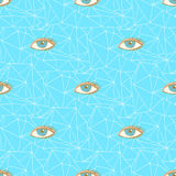 Sketch triangles and eye in vintage style Royalty Free Stock Photos