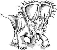 Sketch Triceratops Dinosaur Vector Stock Photo