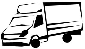 Sketch of a truck in black  Stock Photo