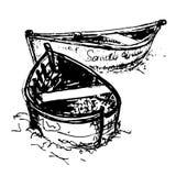 Sketch, two boats.Vector illustration stock illustration