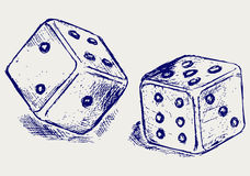 Sketch two dices Stock Photo